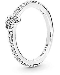 PANDORA - Silver Solitaire Promise Ring 197948cz-56 - Lyst