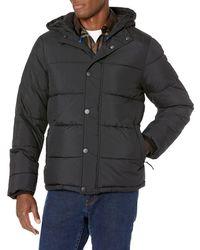 Amazon Essentials Heavy-Weight Hooded Puffer Coat Dress-Coats - Negro