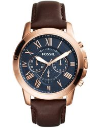 Fossil Fs5068ie S Grant Watch - Blue