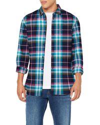 Tommy Hilfiger TJM Essential Check Shirt Freizeithemd - Blau