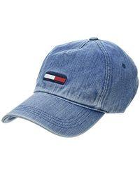 Tommy Hilfiger - Tjw Flag Cap Denim Baseball, (blue 0g1), One (size: Os) - Lyst