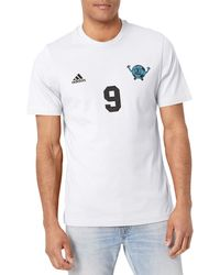 adidas Mens Lil Number Tee White X-Large - Bianco