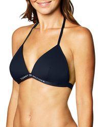 Tommy Hilfiger Triangle Fixed Bikini - Blue