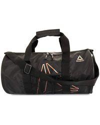 Reebok Mini Gym Duffel, Studio Series Plyo Duffel Bag (peach Spacedye) - Black