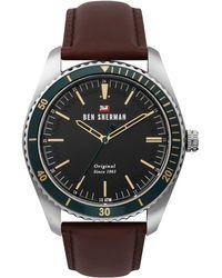 Ben Sherman S Analogique Quartz Montre avec Bracelet en Cuir WBS114NT - Noir