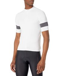 Amazon Essentials Short-sleeve Cycling Jersey Shirt - White