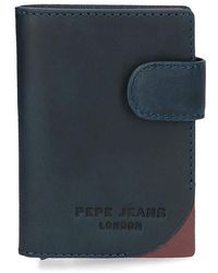 Pepe Jeans Portafoglio Arrow con porta carte blu