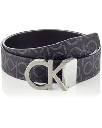 Calvin Klein Ck Rev.adj. New Mono Belt 3.5cm - Black