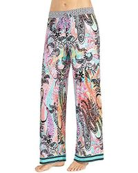 Ellen Tracy - Printed Palazzo Pant - Lyst