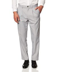 Amazon Essentials - Expandable Waist Classic-Fit Pleated Dress Pants - Lyst