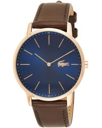Lacoste S Analogue Classic Quartz Watch With Leather Strap 2011018 - Blue