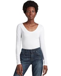 G-Star RAW Base R T Wmn L/s Long Sleeve Top - White