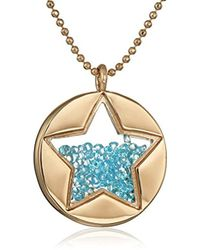 """Betsey Johnson - """"confetti"""" Shaky Faceted Stone Star Round Long Pendant Necklace - Lyst"""