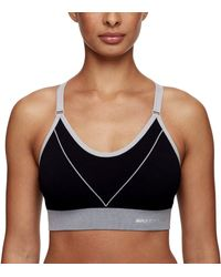 Skechers Studio Seamless Cami Padded Lounge Bra With Front Design - Black