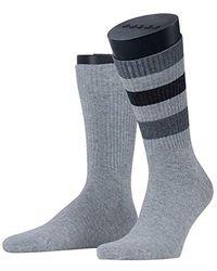 Esprit Colour Block Rib 2-pack Socks - Cotton Blend, Grey (light Grey 3400), Uk 8.5-11 (manufacturer Size: 43-46), Pack Of 2 - Gray