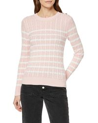 Superdry Croyde Bay Cable Knit Pull - Rose