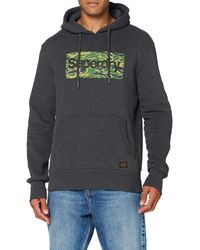 Superdry S CL Canvas Hood Sweater - Mehrfarbig