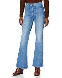 Lee Jeans Breese Patchpocket Jeans a Zampa Donna - Blu