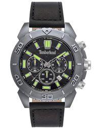 Timberland S Analogue Quartz Watch With Leather Strap Tbl.15518jlu/02 - Black