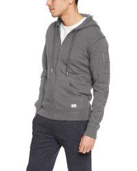 DIESEL Herren Umlt-Brandon-Zip Up Hooded Sweatshirt Kapuzenpulli - Grau