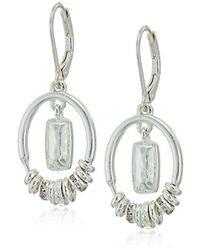 Nine West - Crystal Orbital Drop Earrings - Lyst