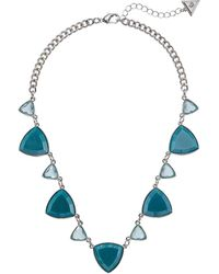 Guess Teal Necklace Aqua One Size - Blue