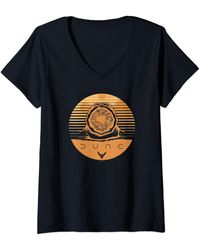 Dune Sandworm Emerging Poster T-Shirt avec Col en V - Noir