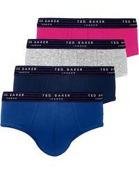 Ted Baker Multipack Slips 4 Pack Briefs - Blue