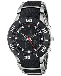 U.S. POLO ASSN. - Sport Us8163 Bracelet Watch With Black And Gun Metal Band - Lyst