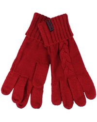 Superdry Lannah Cable Gloves - Red