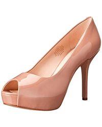 b1cd0b064ee1 Lyst - Nine West Qtpie Women Us 9.5 Nude Peep Toe Platform Heel in ...
