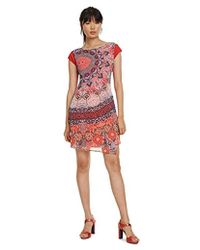 Desigual - Dress Short Sleeve Japan Woman Red Robe, Rouge (Rojo Roja 3061) - Lyst