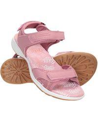 Mountain Warehouse Chaussures Respirantes - Doublure en néoprène - Semelle extérieure en Caoutchouc - Sangles Velcro réglables Rose