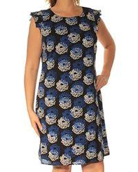d89ec7d256e5e Tommy Hilfiger - Printed Cdc Flutter Sleeve Dress - Lyst