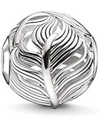 Thomas Sabo Bead Feder Karma Beads 925 Sterling Silber K0221-001-12 - Mettallic