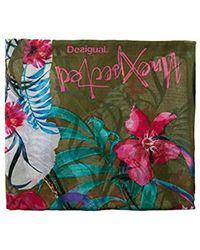 Desigual - Gardenette Rectangle Flower Print Foulard Scarf Fashion - Lyst