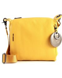 Mandarina Duck Mellow Leather Crossover Bag M Mustard Gold - Giallo