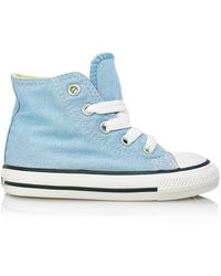 Converse - Upper In Sky Blue Canvas With White Sole Blue - Lyst