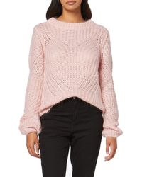 Guess Ls RN Nadia Sweater Pull - Rose