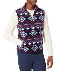 Amazon Essentials Full-zip Polar Fleece Vest - Blue