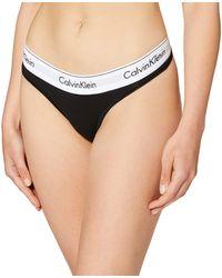Calvin Klein Modern Cotton-thong - Black