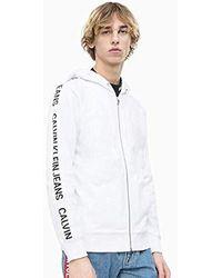 Calvin Klein Sweatjacke INSTIT Side Stripe Zip UP weißXL