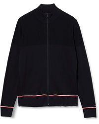 Tommy Hilfiger Structured Zip Through Suéter - Azul