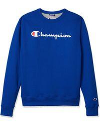 Champion Powerblend Fleece Crew - Blue