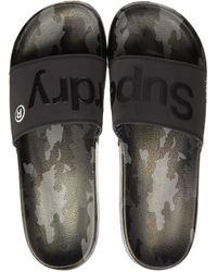 Superdry AOP Beach Slide - Noir
