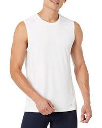 Amazon Essentials Tech Stretch Performance Tank Top Shirt - White