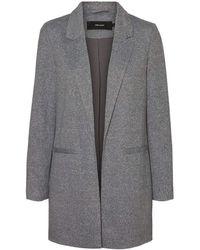 Vero Moda Vmjaney L/s Long Blazer Noos Casual - Grigio