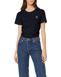Tommy Hilfiger - Women's New Th Ess Embroidery Tee Ss T - Shirt, Blue (blue Dw5), 34 (size:xl) - Lyst