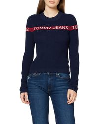 Tommy Hilfiger Tjw Tommy Logo Stripe Sweater Sudadera - Azul