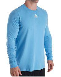 adidas Amplifier Long Sleeve Logo T-shirt Ek02 Xl Light Blue